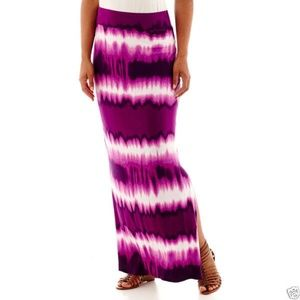 a.n.a Grape Jam Maxi Skirt Plus Size 1X New